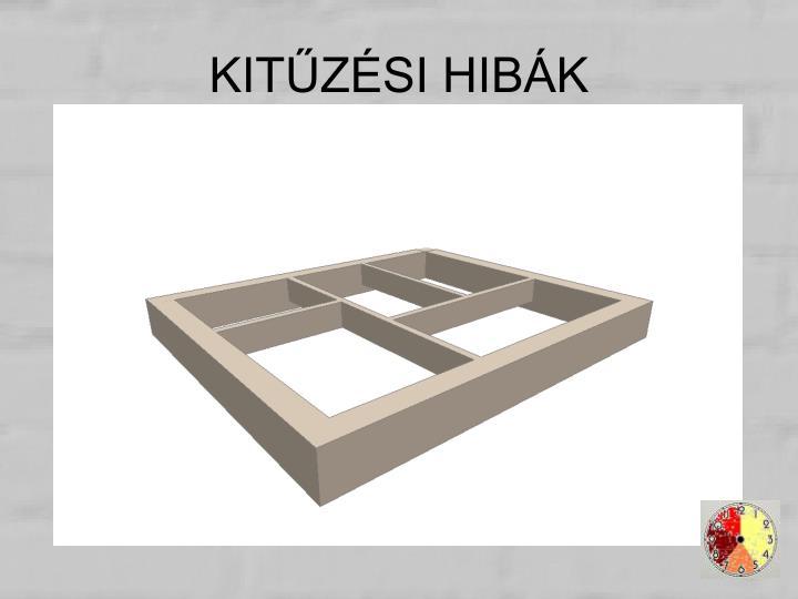KITŰZÉSI HIBÁK