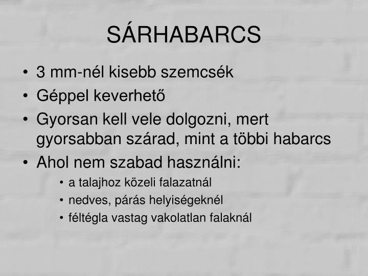 SÁRHABARCS