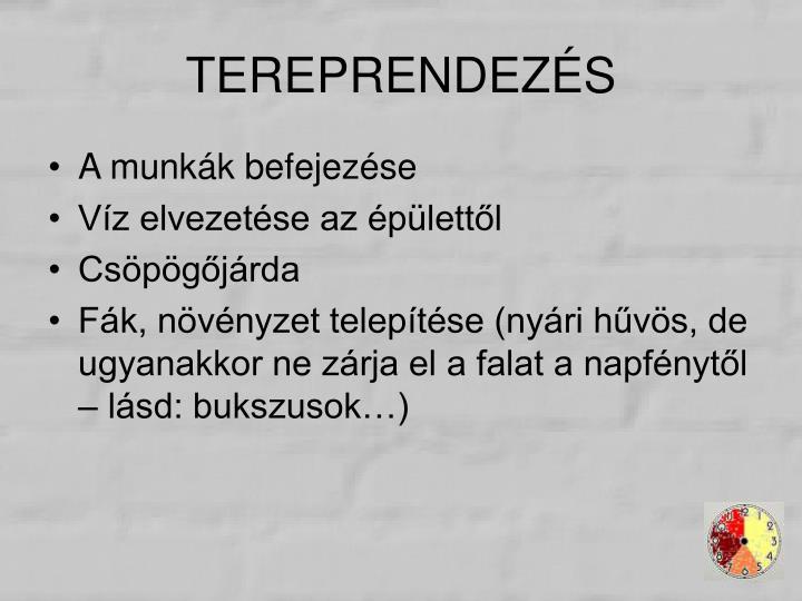 TEREPRENDEZÉS