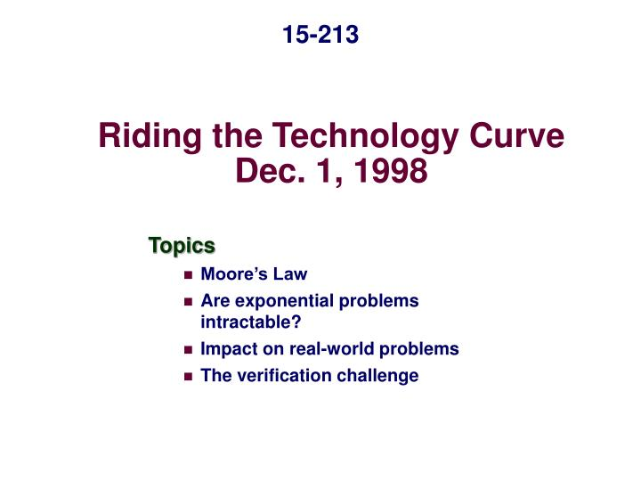 riding the technology curve dec 1 1998 n.