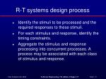 r t systems design process