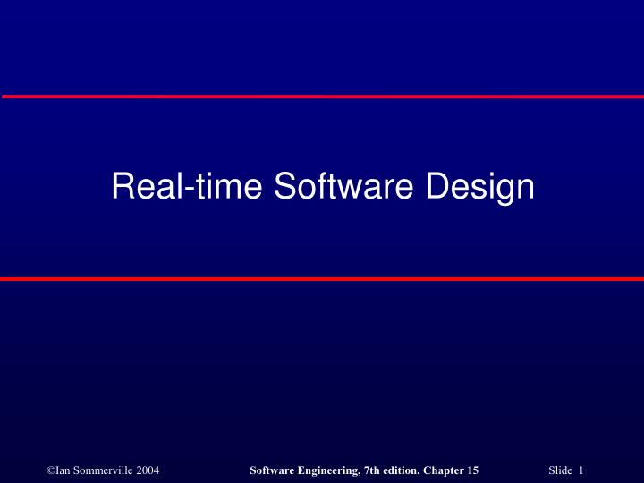 real time software design n.