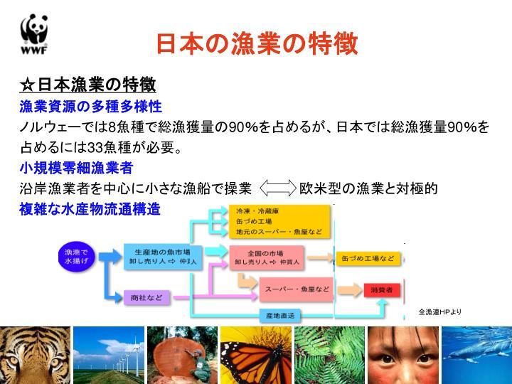 日本の漁業の特徴