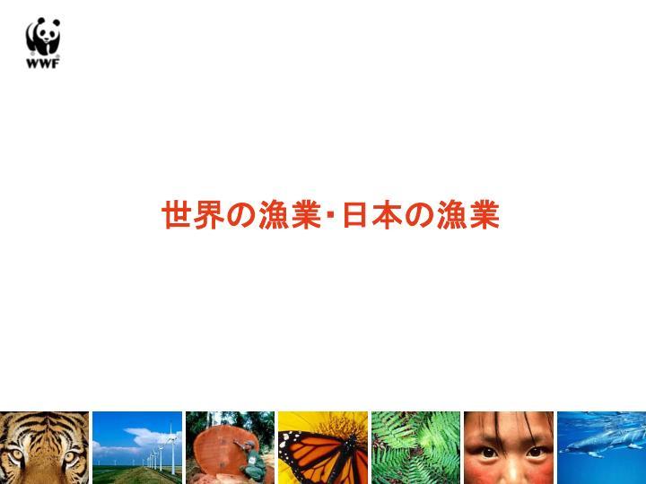 世界の漁業・日本の漁業
