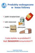 produkty wzbogacane w kwas foliowy