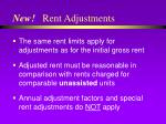 new rent adjustments