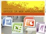 office 14 web applications