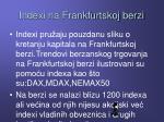 indexi na frankfurtskoj berzi