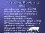 kompanije na frankfurtskoj berzi