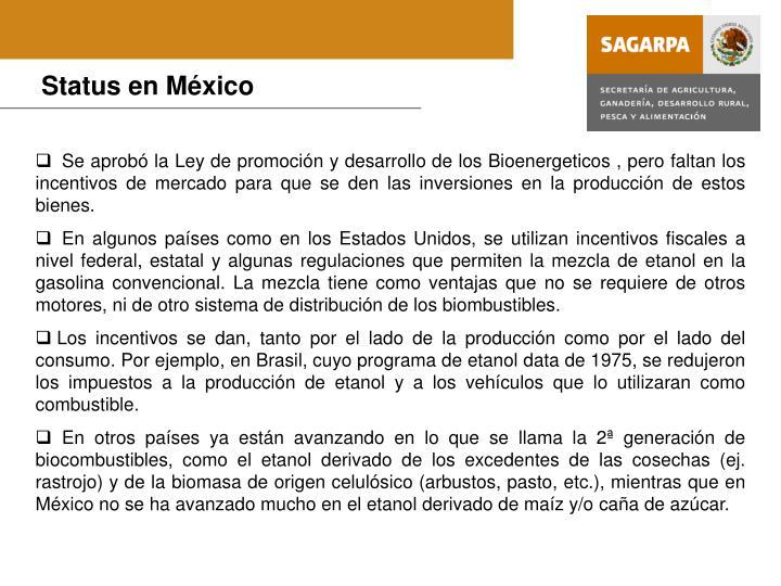 Status en México