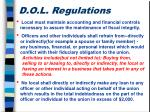 d o l regulations