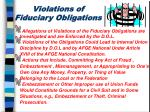 violations of fiduciary obligations