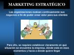 marketing estrat gico