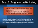 paso 3 programa de marketing