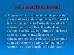 i le march de travail