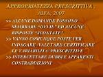 appropriatezza prescrittiva aifa 20072