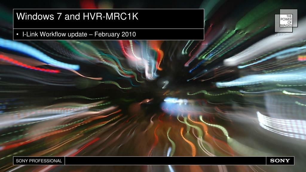 Windows 7 and HVR-MRC1K