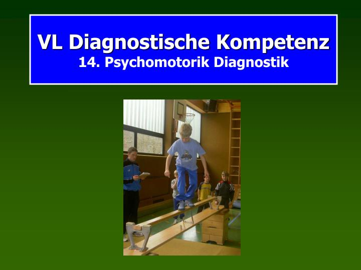vl diagnostische kompetenz 14 psychomotorik diagnostik n.