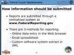 how information should be submitted