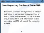 new reporting guidance from omb2