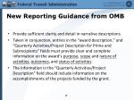 new reporting guidance from omb3