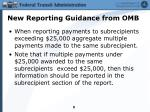 new reporting guidance from omb4
