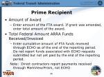prime recipient14