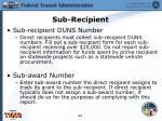 sub recipient