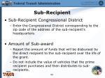 sub recipient1