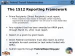 the 1512 reporting framework
