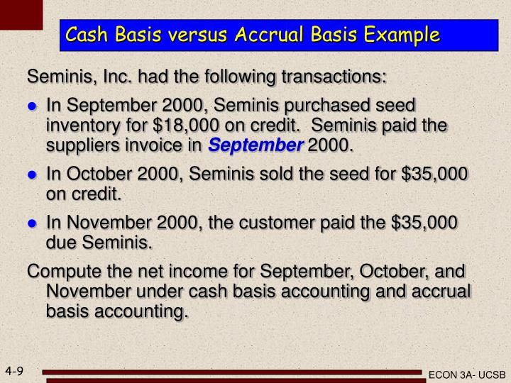 ppt income measurement and accrual accounting powerpoint