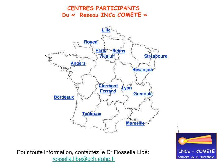 CENTRES PARTICIPANTS