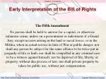 early interpretation of the bill of rights2