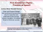 first amendment rights freedom of speech1