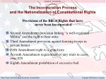 the incorporation process and the nationalization of constitutional rights4