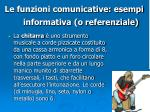le funzioni comunicative esempi