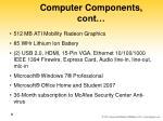 computer components cont