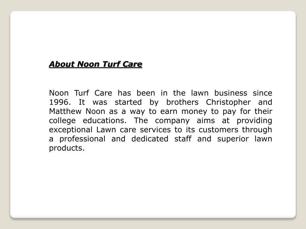 About Noon Turf Care