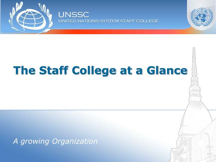 the staff college at a glance n.