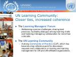 un learning community closer ties increased coherence