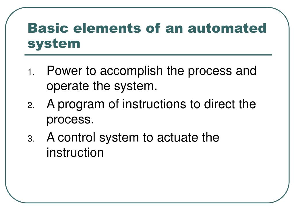 PPT - Chapter 4 Introduction to Automation PowerPoint