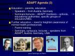 adapt agenda 3