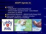 adapt agenda 4