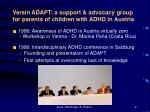 verein adapt a support advocacy group for parents of children with adhd in austria