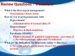 review questions treatment