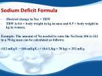 sodium deficit formula