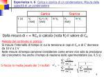 esperienza n 6 carica e scarica di un condensatore misura della capacit di un condensatore8