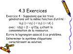 4 3 exercices