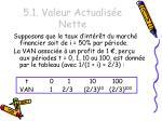 5 1 valeur actualis e nette1