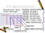 5 5 application excel4